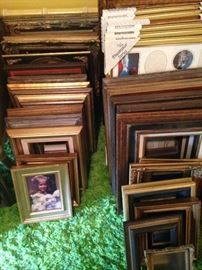 An abundance of wooden frames