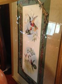 Framed bird art