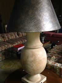 Unique and large solid wood lamp