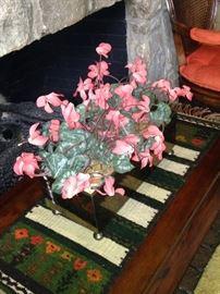 Woven runner; artificial arrangement