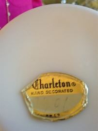 "Vintage hand painted Fenton ""Charleton Collection"""