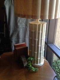 Bamboo-looking  lamp