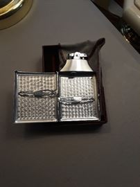 Antique cigarette case and lighter