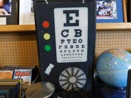 Otometer eye chart