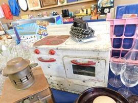 Vintage metal child stove