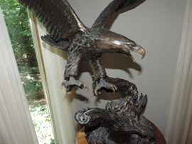 BRONZE Eagle by Carl Wagner - LARGE EXAMPLE!