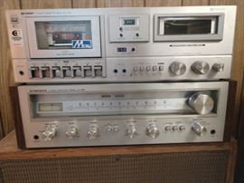 Pioneer receiver and Sharp cassette player