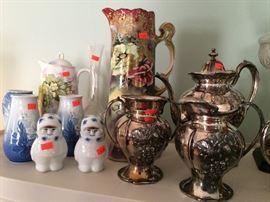 B&G (Bing & Grondahl) Copenhagen (Denmark) porcelain vases, Porsgrund (Norway) figurines