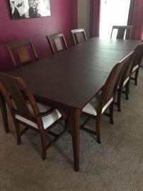 Kincaid cherry park sold wood rectangular leg dining set