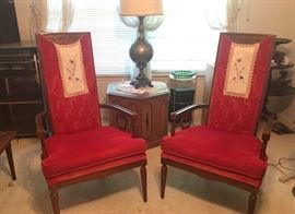 Very nice and outstanding red velour chairs