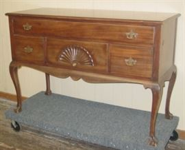 Mahogany Server w/Claw & Ball Feet
