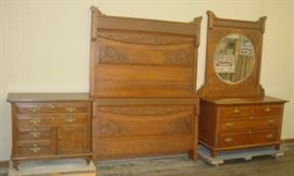 3 Piece Oak Bedroom Set