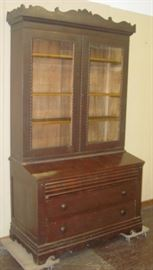 1800's Bookcase w/Desk