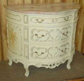 French Style Marble Top Console