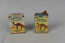 Pair of Vintage Camel Cigarette Lighters / Set of 2 camel lighters - Unknown Brand - Working condition unknown