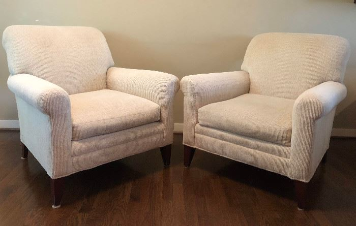 Two of Four Quality & Clean Chairs by Lee Industries