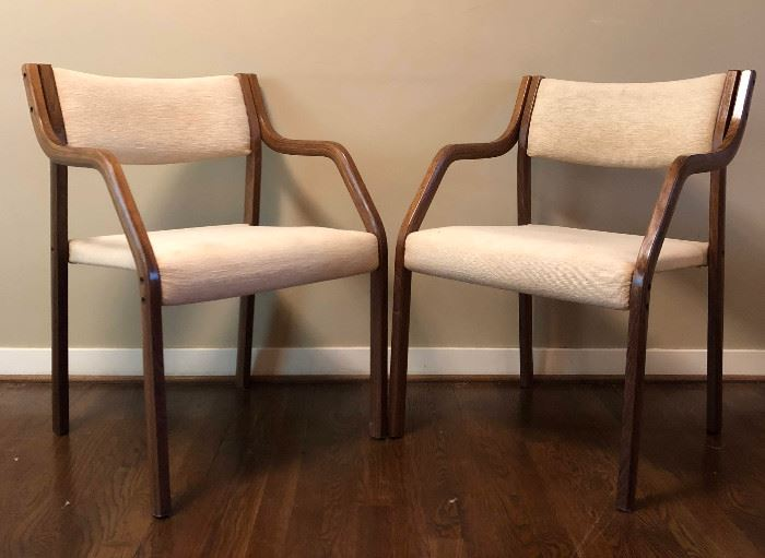 Mid-cent Stacking Chairs