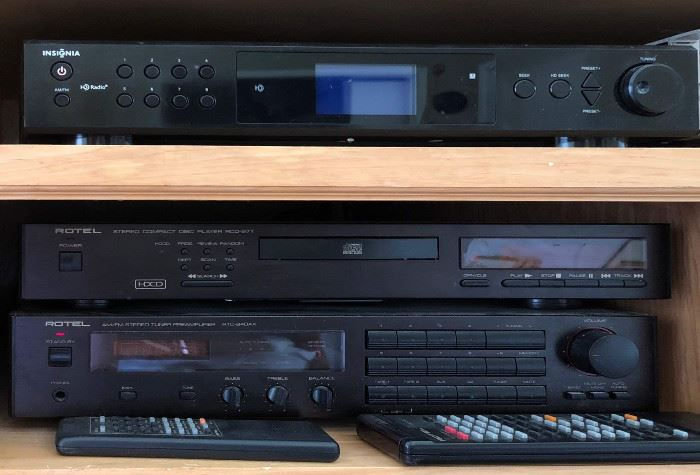 Rotel Stereo Compact Disc Player RCD-971, Rotel AM/FM Stereo Tuner Preamplifier RTC-940AX
