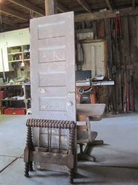 door & hired man's bed parts