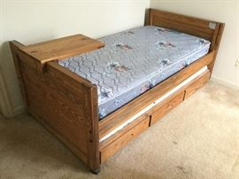 Twin Bed w/ Trundle & Lock-On Tray    http://www.ctonlineauctions.com/detail.asp?id=737651