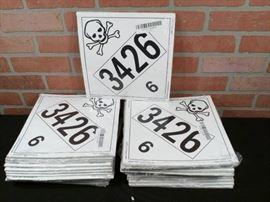 Label Master Toxic Hazmat Placard EZ Removable Vin ...