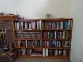 large selection of books and book cases