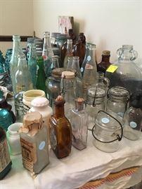 bottles, canning jars
