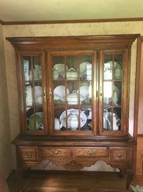 American Drew hutch with Ironstone inside