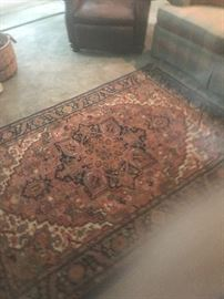 "1 of 2 different rugs size 4'3"" x6  Karastan 100% wool. Other rug blues and reds multi colored"