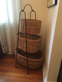 Tiered basket grouping (Pottery Barn)