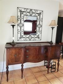 Late 1800s/early 1900s antique side buffet. Stunning!