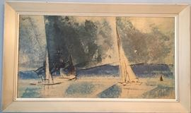 "Lithograph ""Blue Coast"" by  Lyonel Feininger"