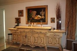 Oversized Credenza, Art and Decorative Items