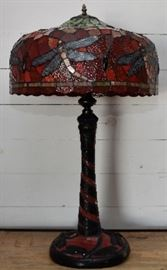 Nice selection stained glass lamps
