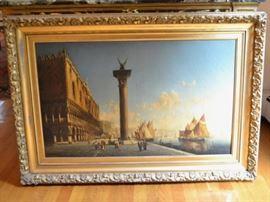 Thadeus DeFrees oil painting of Venice