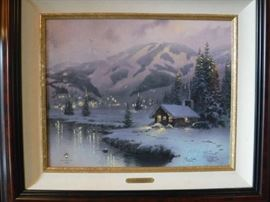 We are asking $750 for this Kinkade which is a lot lower than advised by the Kinkade Group to request. Be advised...We will NOT be going to 1/2 price on Saturday on this item.