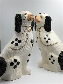 Staffordshire Style Porcelain Twin Dalmation Figurines