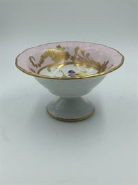 Limoges Pink Floral Candy Bowl