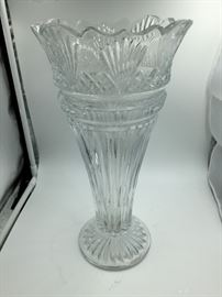 Crystal Cut Glass Large Vase
