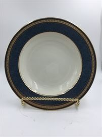 Mikasa Blue/Gold Trim Soup Bowls (19 in Stock)