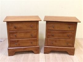 Pair of VeneeredSolid Nightstands