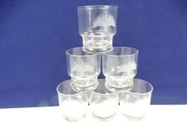 6 Eagle Whiskey Rocks Glasses