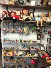 vintage dolls and small toys
