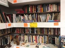 lots of books!! How to, DIY, Dictionaries, Sports, Music, Novels and more!