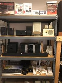 speakers, sound bar and sub, WII accessories, keyboards and more