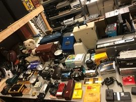 house phones, vintage phones, cameras, camera accessories, car stereos
