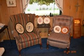 Nice wingback and ladies recliner