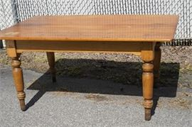 Antique Country Pine Kitchen Table