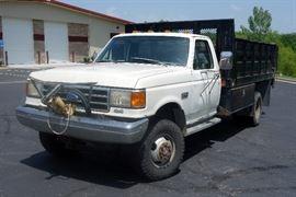 1991 Ford F-350 Dump / Pickup Truck, Reads 80,556 Miles, VIN # 1FDKF38G8MKA20853
