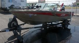 2006 16' Lowe Fish & Ski FS165 Boat LWCV0095G506, 2006 Lowe Trailer LB-2200-70 With Winch, 2006 Mercury 90 Outboard Motor